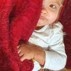 Hiding Behind the Red Blanket